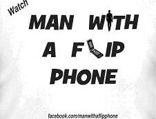 MAN WITH A FLIP PHONE T SHIRT WHITE