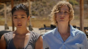 Alisa Allapach as Connor's wife and fellow CIA agent Alisa Flynn and Mette Holt as Agent Lothbrok, the head of the shady government group that sent Connor on his mission.