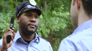 Che Holloway stars as cop Amir Johnson in the new comedy series DARK JUSTICE.
