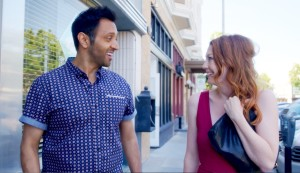 L-R: Bhavesh Patel as Sam and Monica West as Mae in the new comedy series BEST THING YOU'LL EVER DO.