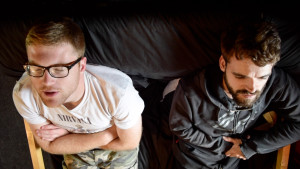 L-R: Connor Webb and Shay Ruddick, co-stars of the new Stream Now TV comedy HUMDRUM.
