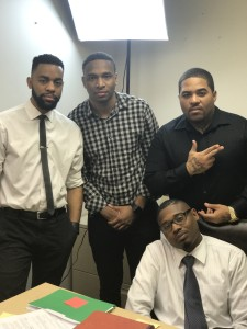 "L-R: BLUE COLLAR HUSTLE co-stars Howard Woodburn, Quentin Williams, Roberto ""Sosa"" Cruz and Alonge Hawes (who also created the series)."