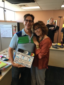 L-R: Zimmerman with SECS AND EXECS co-star Mindy Sterling.