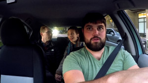 "Jeff Irlbeck plays ""The Driver"" in the acclaimed improv comedy series RideShare."