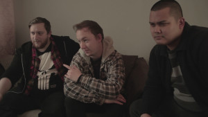 L-R: THE MAKING OF co-stars Ross Alan Doney, Sam Mason Bell and Rishi Ghosh.