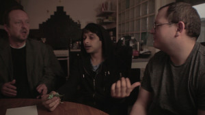 RIGHT HERE, RIGHT NOW co-stars Simon Berry, Rishky Patel (as Krishian) and Spencer Craig (as Kevin Decline).
