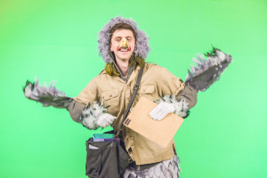 Midge, the mail delivering carrier pigeon (played by Richy Storrs).