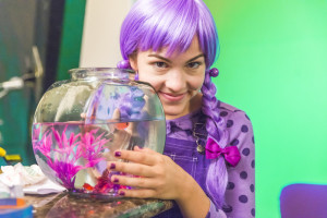 Allie Jennings stars as the eponymous - and perky - kids' TV show host in the parody/satire JANNY JELLY.