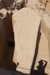 In Egypt, an unfinished obelisk (or pillar) found in an Aswan quarry.