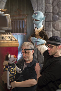 L-R: Puppeteers/performers Gordon Smuder (as Batfink) and Charles Hubbell (as Count LeShoc). Photo courtesy Matt Maas.